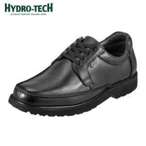 [入荷次第発送]ハイドロテック HYDRO-TECH HD1304 ウォーキングシューズ 本革 防水 軽量 幅広 4E メンズ ブラック
