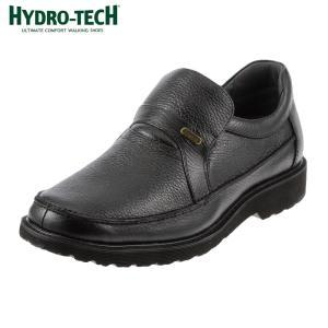 [入荷次第発送]ハイドロテック HYDRO-TECH HD1305 ウォーキングシューズ 本革 防水 軽量 幅広 4E メンズ ブラック