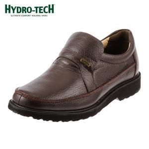 [入荷次第発送]ハイドロテック HYDRO-TECH HD1305 ウォーキングシューズ 本革 防水 軽量 幅広 4E メンズ ダークブラウン