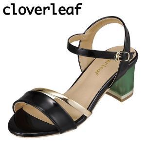 クローバーリーフ cloverleaf CL-133 レディース | サンダル | クリアヒール | ゴールドライン | ブラック|SHOE・PLAZA シュープラザ