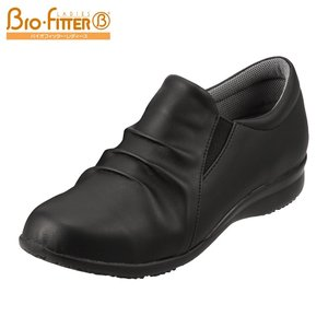 バイオフィッター レディース Bio Fitter BFL2735 レディース スリッポン 大きいサイズ対応 25.0cm ブラック|SHOE・PLAZA シュープラザ