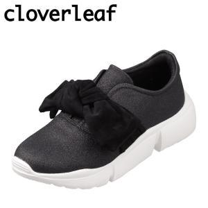 クローバーリーフ cloverleaf CL-128 レディース | スニーカー | 屈曲性 | 大きめ リボン | かわいい 人気 | ブラック|SHOE・PLAZA シュープラザ