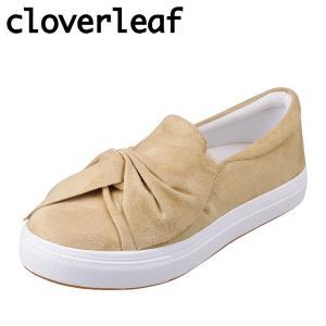 クローバーリーフ cloverleaf CL-130 レディース | スニーカー | クッション性 | リボン かわいい | ベージュ|SHOE・PLAZA シュープラザ
