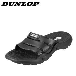 ダンロップ DUNLOP SW322A メンズ | スポーツサンダル スポサン | 軽量 幅広 | シャワーサンダル ビーチサンダル | ブラック|shoe-chiyoda