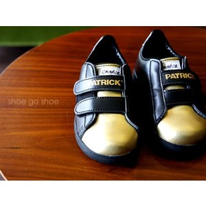 PATRICK パトリック キッズ ベビー スニーカー 靴 運動靴 限定 OCEAN-Gee オーシャンジー BLACK ブラックGOLD ゴールド GE1501