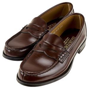 ハルタ HARUTA 4514 レディース ローファー 普通幅2E 学生靴 学生 通学 日本製 ブラック / ブラウン|靴のシューマート