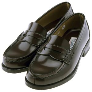 ハルタ HARUTA 4505 レディース ローファー 歩きやすい 3.0cm ヒール ゆったり 幅広 3E 学生靴 通学 日本製 正規品 ブラック / ジャマイカ|靴のシューマート