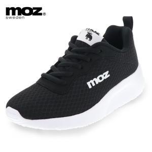 モズ レディース スニーカー カジュアル シューズ MOZ 7070 ローカット 厚底 メッシュ 紐靴 軽い 歩きやすい 通勤 通学 ブラック / グレー 22.5cm〜24.5cm|靴のシューマート