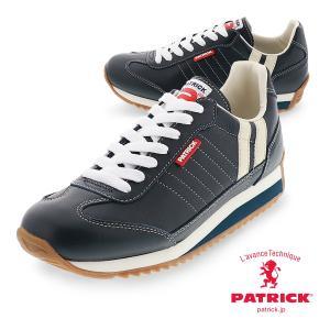PATRICK パトリック日本製  MARATHON-L_NVY マラソン レザー ネイビーメンズ  レディース レザー スニーカーマラソンレザー MARATHON-L NVY