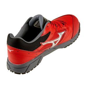 安全靴 スニーカー ミズノ MIZUNO メンズ レディース オールマイティLS レッドxシルバーxブラック 紐 ローカット セーフティシューズ 赤 C1GA1700 RD62 shoemart 03