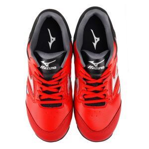 安全靴 スニーカー ミズノ MIZUNO メンズ レディース オールマイティLS レッドxシルバーxブラック 紐 ローカット セーフティシューズ 赤 C1GA1700 RD62 shoemart 05