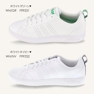adidas アディダス レディース スニーカー VALCLEAN2 バルクリーン2 F99251 F99252 ローカット コートタイプ ホワイト×グリーン ホワイト×ネイビー 白 shoemart 02