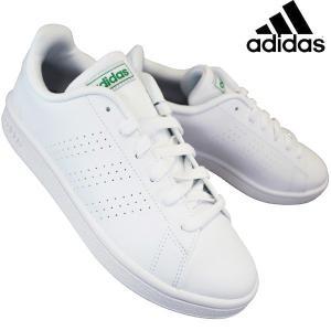 アディダス adidas EE7690 アドバンコートベース ランニングホワイト/グリーン メンズ ...