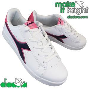 ディアドラ スニーカー 173323 ゲーム P GS GAME P GS レディース ジュニア 白 ホワイト 22.5cm〜24.5cm|靴ショップやまう