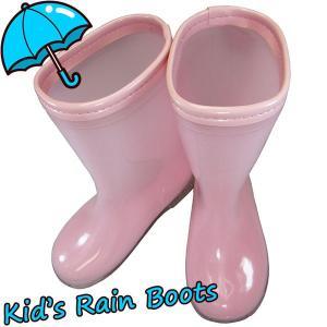 キッズ カラーレインシューズ 3100 ピンク 長靴 子供用|shoeparkkaminari