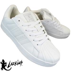 LARKINS ラーキンス L6272 ホワイト メンズ 通学靴 白スニーカー ホワイトシューズ コートタイプ L-6272 shoeparkkaminari