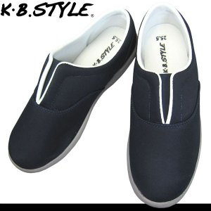 メンズ スリッポン KB.STYLE 10171 ネイビー センターゴムスニーカー ワークシューズ 幅広 軽量 お買い得 作業靴|shoeparkkaminari