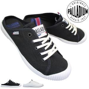 パラディウム ミュール 96660 レディース  ホワイト ブラック 23.0cm〜24.5cm|靴ショップやまう