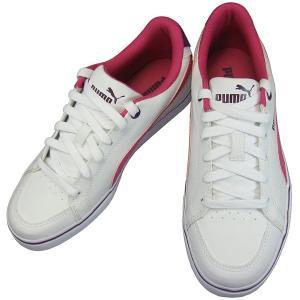プーマ コートポイント VU SL BG PUMA 357679-05 ホワイト/カーマインローズ キッズ レディース スニーカー カジュアル スニーカー PUMA357679-05 通学靴