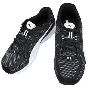 PUMA 360035 01 アクシス V3 メッシュ ワイド 4E ブラック/ホワイト プーマ メンズ レディース ランニングシューズ 幅広 スニーカー 黒靴 puma360035-01