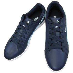 プーマ PUMA スニーカー スマッシュ ウィメンズ L puma 360780-03 ピーコート/クールブルー PUMA SMASH WNS L レディース コートタイプ スニーカー靴