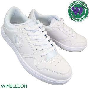 WIMBLEDON ウィンブルドン 037 ホワイト 通学靴 白スニーカー キッズ メンズ レディー...