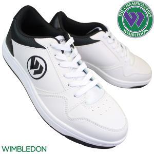 WIMBLEDON ウィンブルドン 037 ホワイト/ブラック スニーカー メンズ 3E KF795...