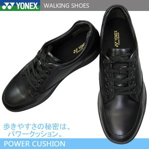 YONEX ヨネックス パワークッション MC75 黒 メンズ ウォーキングシューズ コンフォートシューズ 本革 革靴|shoeparkkaminari
