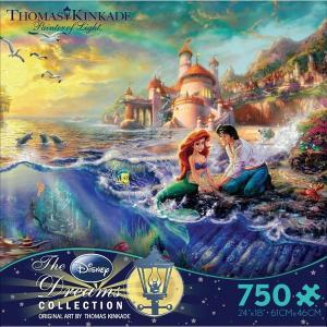 ディズニー ジグソー パズル グッズ リトルマーメイド プリンセス ジグソーパズル 750ピース トーマスキンケード アリエル ストア ランド おもちゃ ゲーム 映画