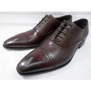イタリア製 靴  C florence(フローレンス) PARMA B−2118(ボルドーワイン) セミブローグ ビジネスシューズ|shoes-aman