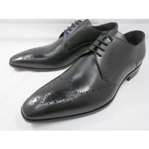 イタリア製 靴  C florence(フローレンス) PARMA B−371(ブラック) フルブローグ メンズビジネスシューズ|shoes-aman