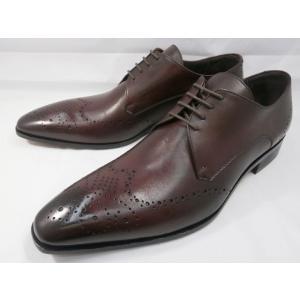 イタリア製 靴 C florence(フローレンス) PARMA B−371(ボルドーワイン) フルブローグ メンズビジネスシューズ|shoes-aman