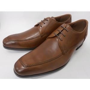 ヒロコ コシノ 本革 ビジネスシューズ Uチップレース HK118(ブラウン) HIROKO KOSHINO メンズ靴|shoes-aman