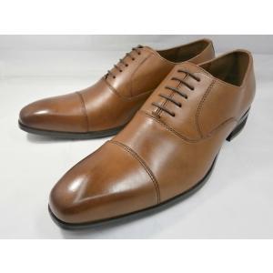 ヒロコ コシノ 本革 ビジネスシューズ ストレートチップ HK119(ブラウン) HIROKO KOSHINO メンズ靴|shoes-aman