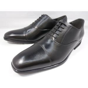 ヒロコ コシノ 本革 ビジネスシューズ ストレートチップ HK128(ブラック) HIROKO KOSHINO メンズ靴|shoes-aman