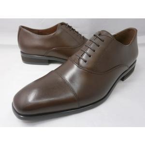 ヒロコ コシノ 本革 ビジネスシューズ ストレートチップ HK128(ダークブラウン) HIROKO KOSHINO メンズ靴|shoes-aman