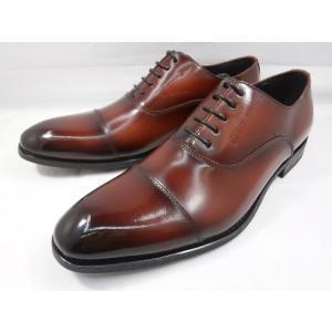 ヒロコ コシノ 本革 ビジネスシューズ ストレートチップ HK3201(ブラウン)HIROKO KOSHINO メンズ靴|shoes-aman