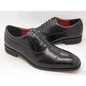 ヒロコ コシノ 本革 ビジネスシューズ ストレートチップ HK5551(ブラック)HIROKO KOSHINO メンズ靴|shoes-aman