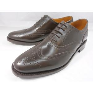 ロンドンシューメイク オックスフォード&ダービー8002(ダークブラウン) ウィングチップ メンズ ビジネスシューズ グッドイヤーウェルト製法 本格紳士靴|shoes-aman