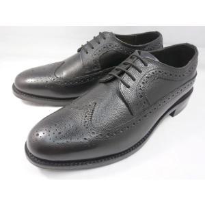 ロンドンシューメイク オックスフォード&ダービー8011(ブラック) グレインレザーフルブローグ メンズ ビジネスシューズ グッドイヤーウェルト製法 紳士靴|shoes-aman