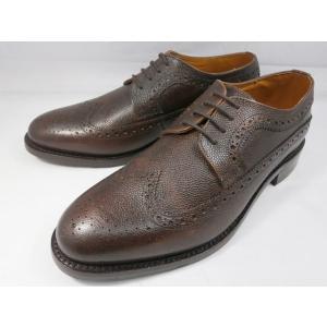 ロンドンシューメイク オックスフォード&ダービー8011(ダークブラウン) グレインレザーフルブローグ メンズ ビジネスシューズ グッドイヤーウェルト製法 靴|shoes-aman