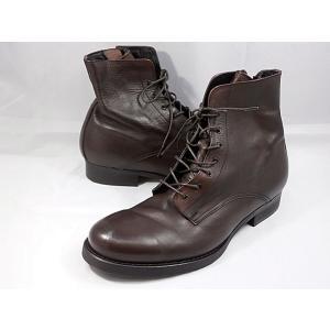 【在庫限り!即日発送】 フープディドゥ 本革レースアップブーツ 106202(ダークブラウン) whoop'-de-doo' メンズ靴|shoes-aman