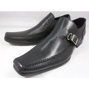 【現品/即日発送】18年秋発売 フープディドゥ 本革スワールモカスリッポン 378222(ブラック) whoop'-de-doo' メンズ靴 |shoes-aman