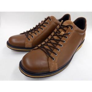 フープディドゥ プンタ(PUNTA) ラウンドトゥ・レザーカジュアルスニーカー 308134 (キャメル) whoop'-de-doo' メンズ 靴|shoes-aman