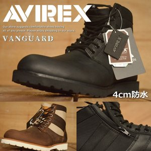 AVIREX アビレックス メンズ ブーツ VANGUARD ヴァンガード 本革 防水 レザー レイ...
