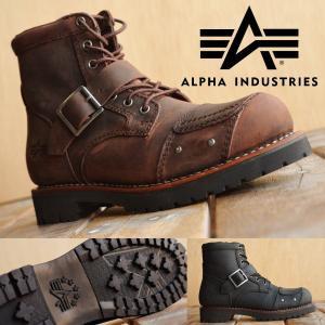Alpha Industries アルファ インダストリーズ 本革 バイカー ブーツ レディース AFB-22019 【SHA】【160504】|shoes-garage