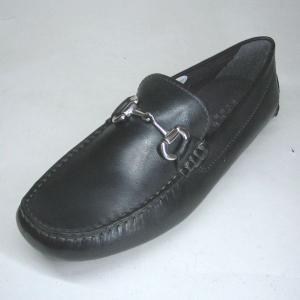 エルオム ELLE HOMME EH8006 ブラック 本革 ヴァンプ ドライビングシューズ|shoes-maro