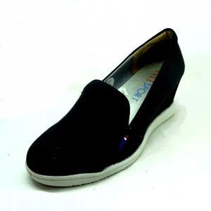 エルスポーツ 靴 レディース ELLE SPORT ESP10892 ブラック ウエッジ ヒールスニーカー パンプス|shoes-maro
