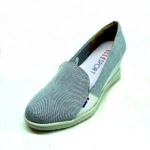 エルスポーツ 靴 レディース ELLE SPORT ESP10892 グレー ウエッジ ヒールスニーカー パンプス |shoes-maro