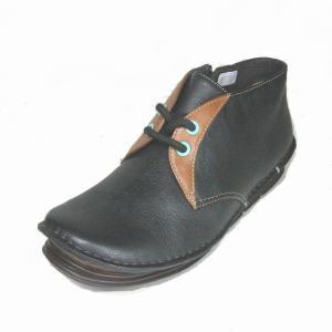 リーガル REGAL F37G ブラック 本革 レディース ショートブーツ|shoes-maro